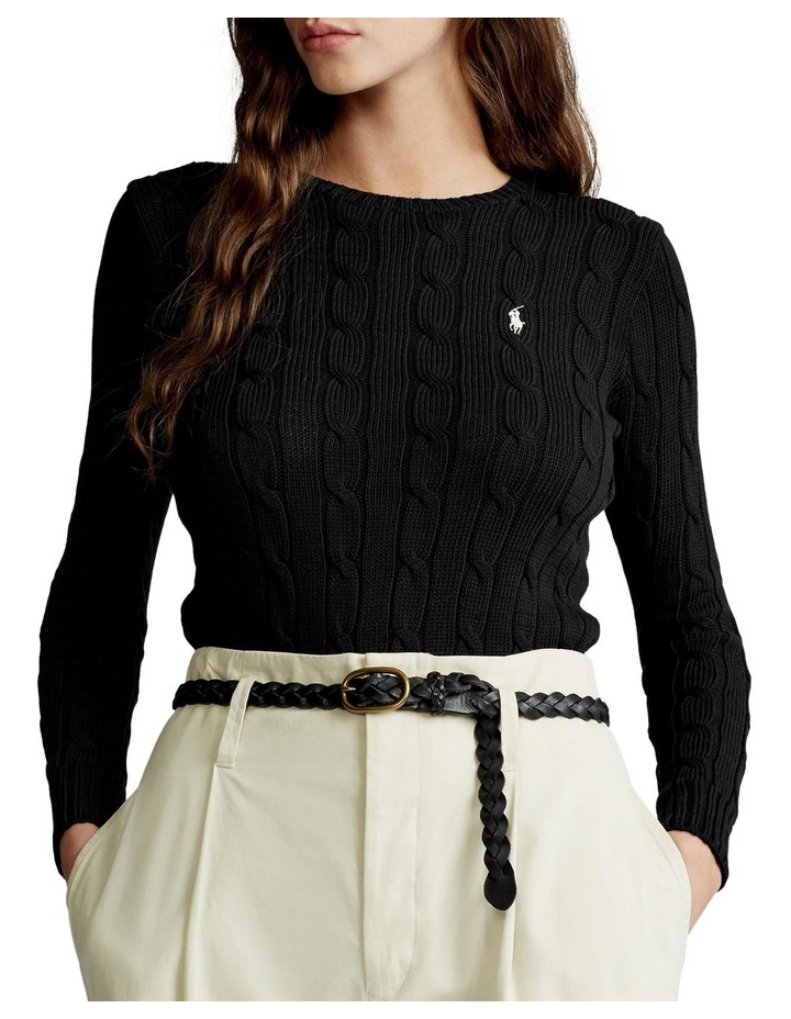 Slim Fit Cable-Knit Sweater image 1