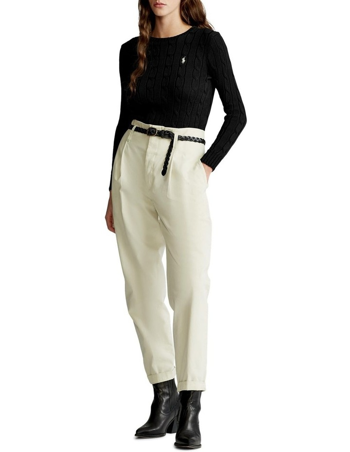 Slim Fit Cable-Knit Sweater image 3