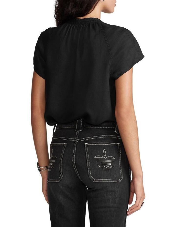 Linen Tie-Neck Blouse image 2