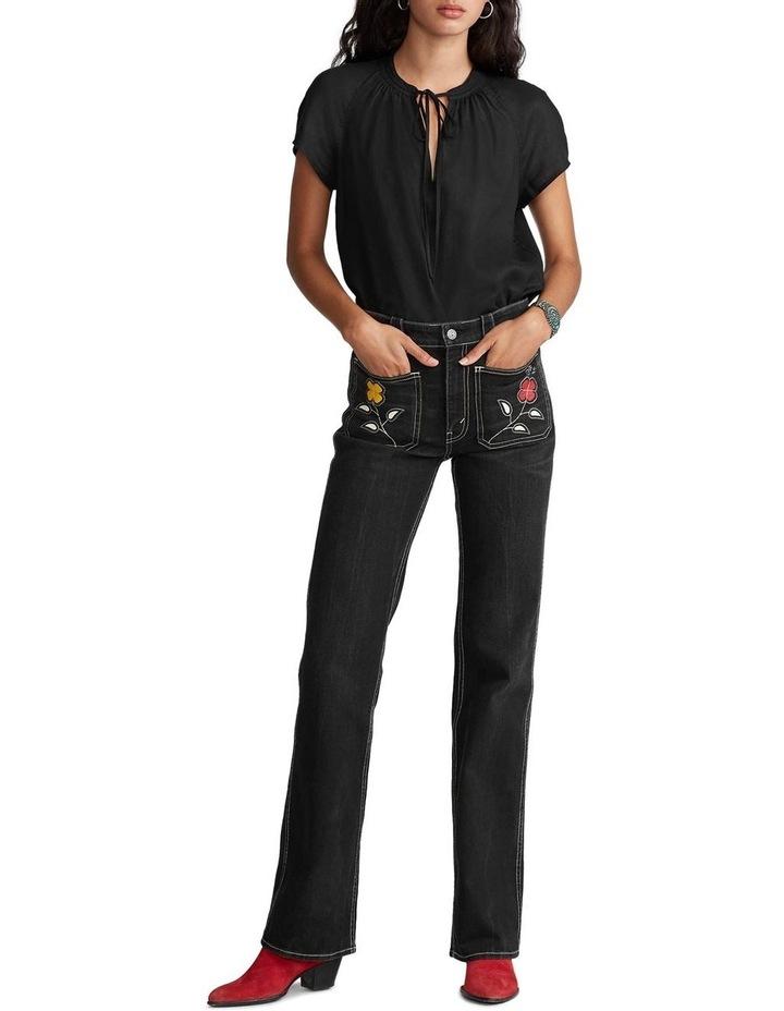 Linen Tie-Neck Blouse image 3
