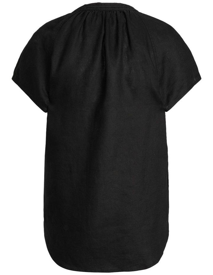 Linen Tie-Neck Blouse image 4
