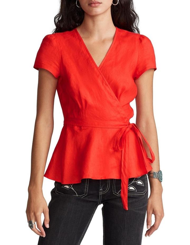 Linen Wrap Blouse image 1