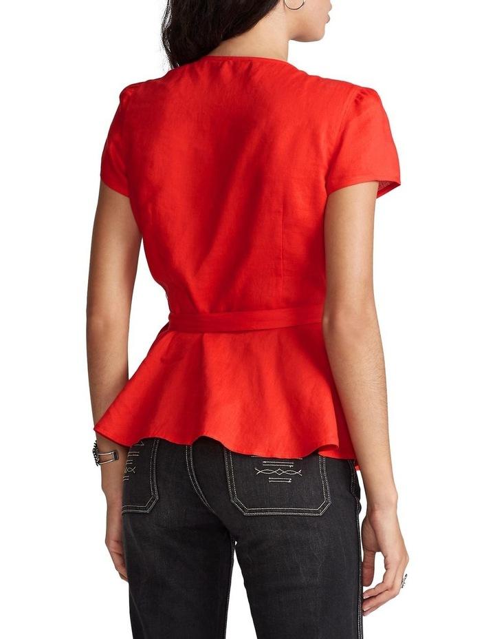 Linen Wrap Blouse image 2