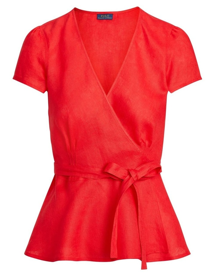 Linen Wrap Blouse image 4
