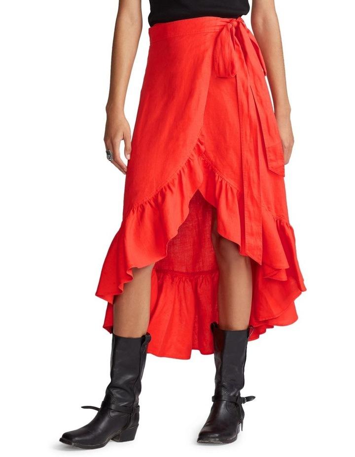 Linen Wrap Skirt image 3