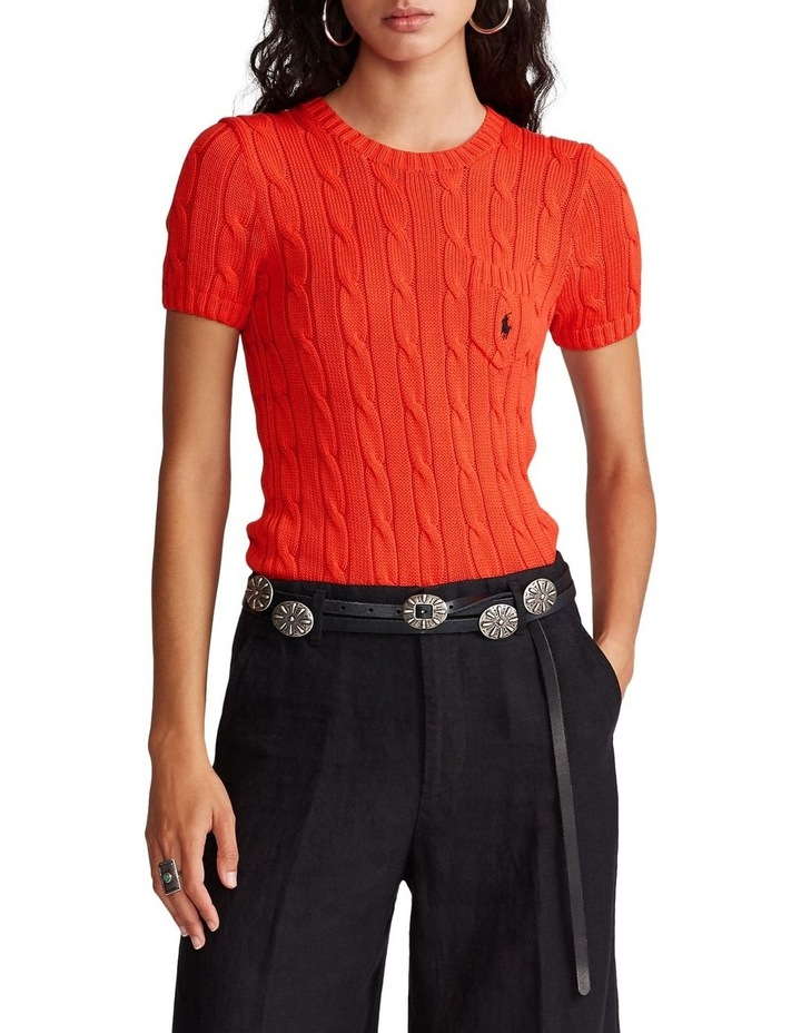 Cable Short-Sleeve Sweater image 1