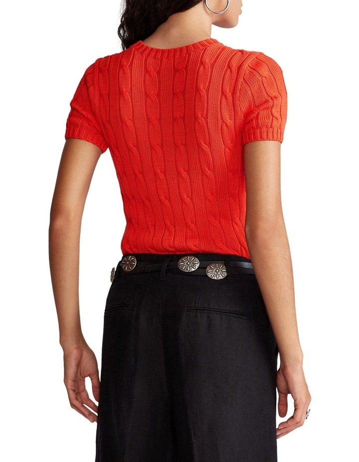 Cable Short-Sleeve Sweater image 2