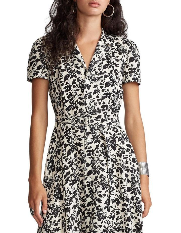 Floral Linen Midi Dress image 1