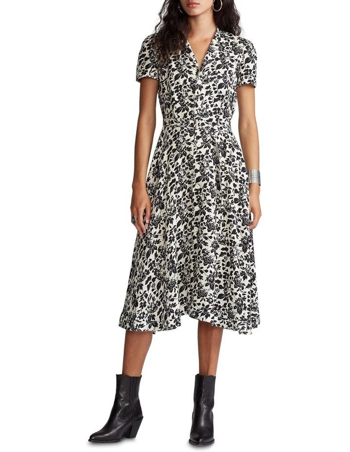Floral Linen Midi Dress image 2