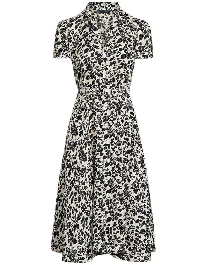 Floral Linen Midi Dress image 4