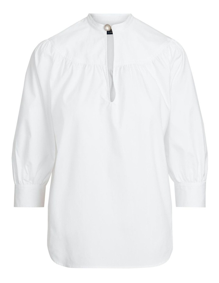 Cotton Oxford Keyhole Shirt image 4
