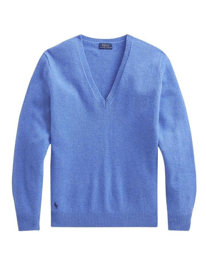 Wool-Blend V-Neck Sweater image 1