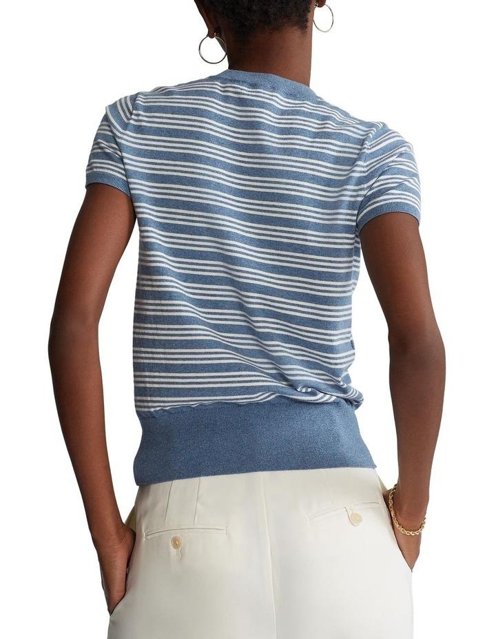 Cotton Short-Sleeve Sweater image 2