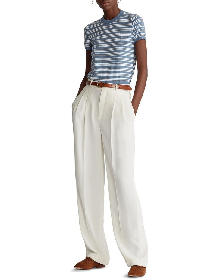 Cotton Short-Sleeve Sweater image 3