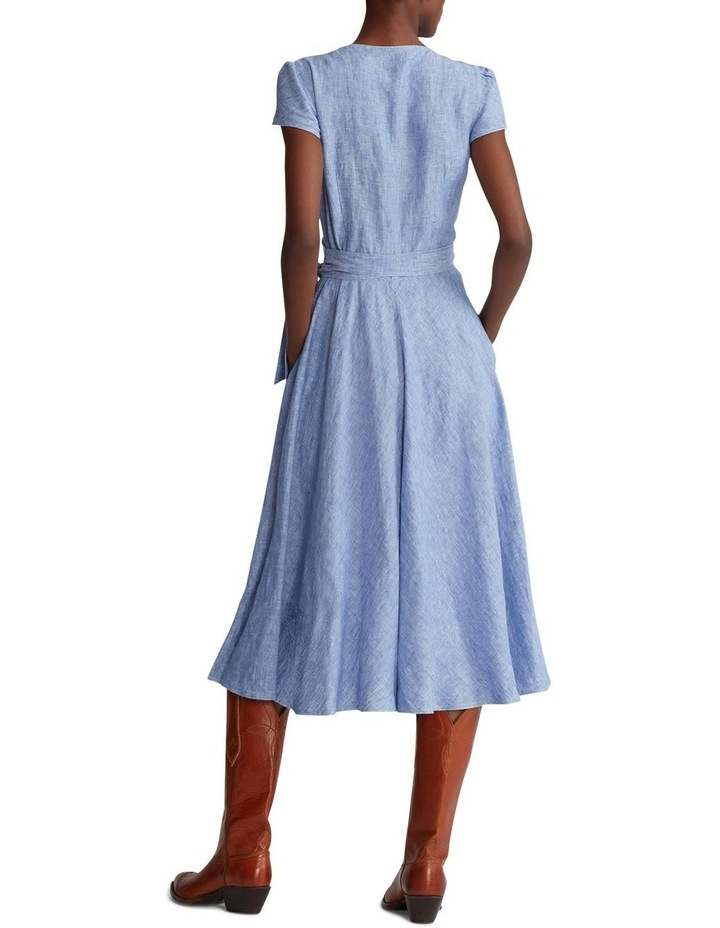 Linen Wrap Dress image 2