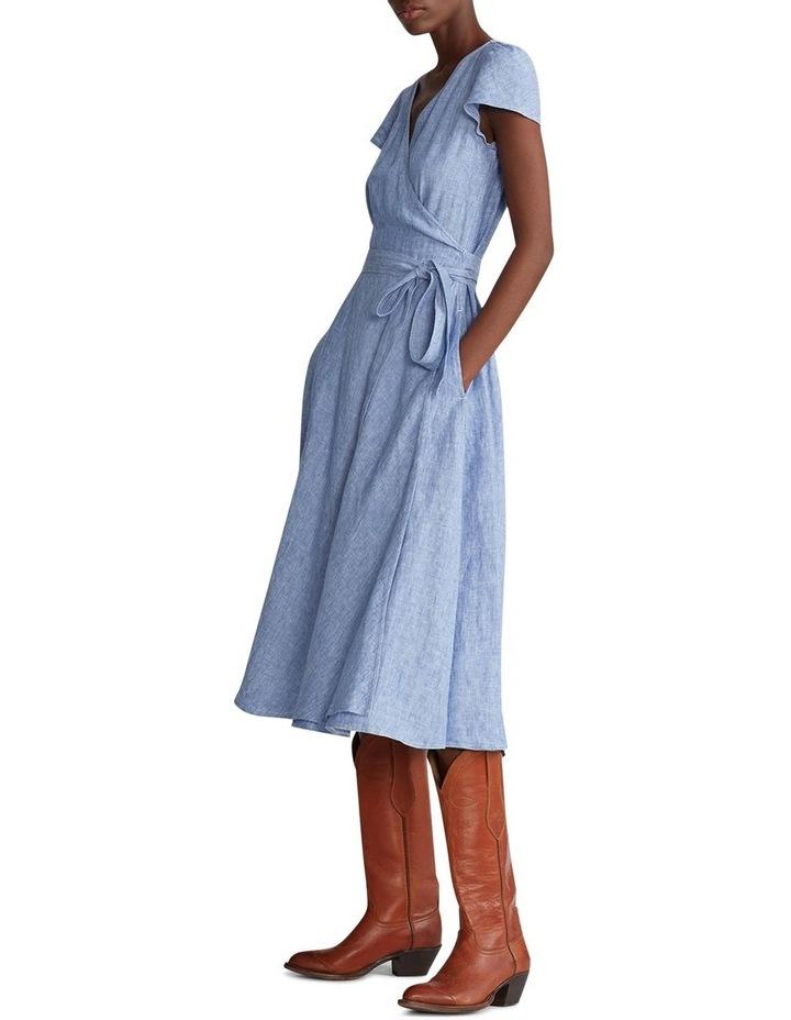 Linen Wrap Dress image 3