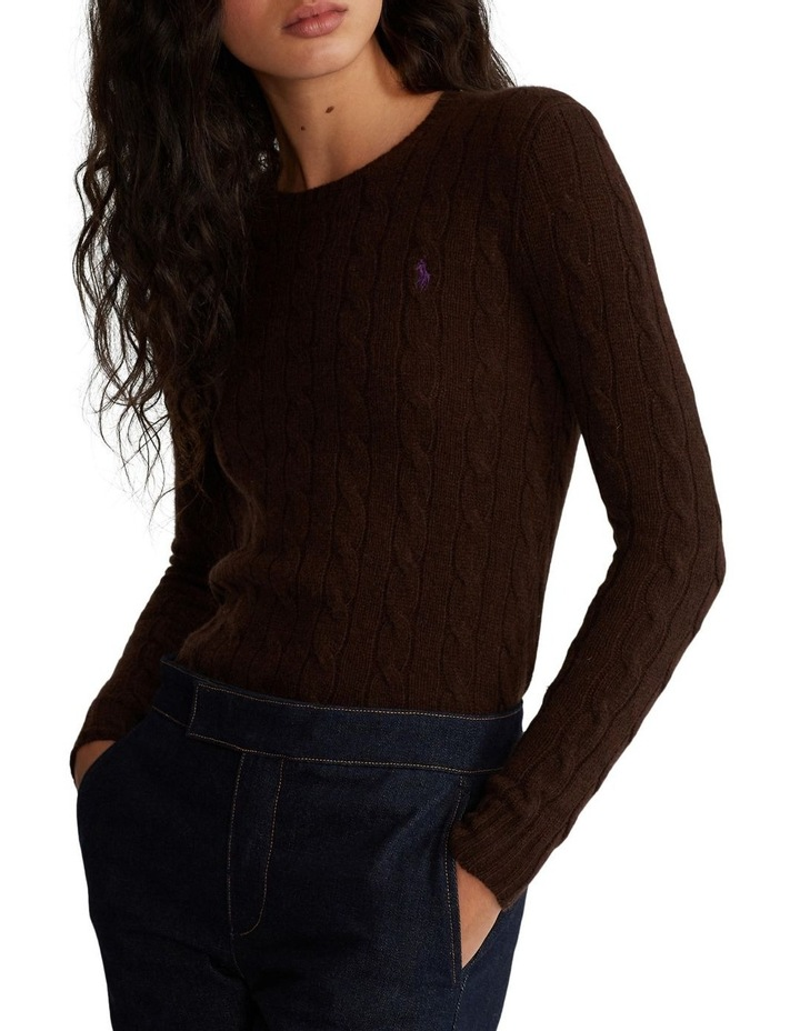 Cable Wool-Blend Sweater image 1