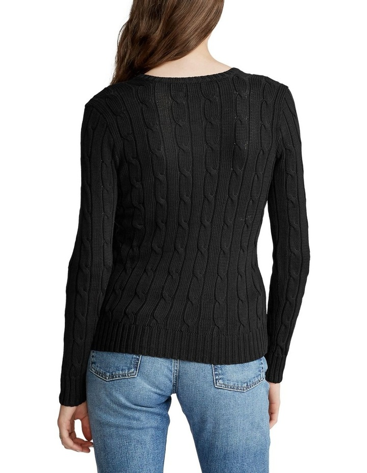 Cable-Knit V-Neck Sweater image 2