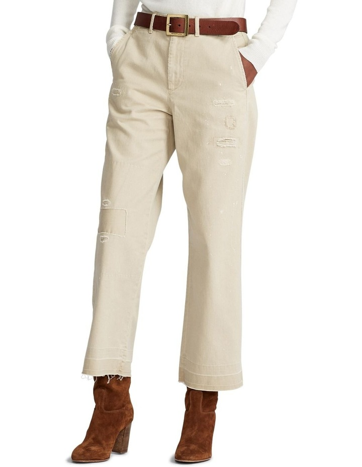 Cotton Twill Cropped Pant image 1