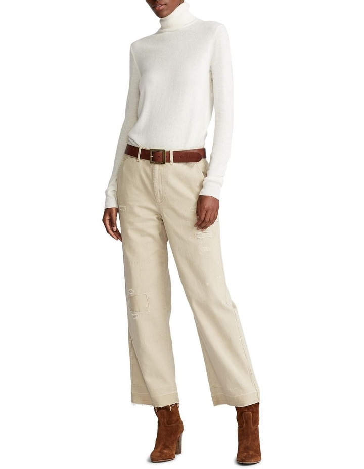 Cotton Twill Cropped Pant image 3