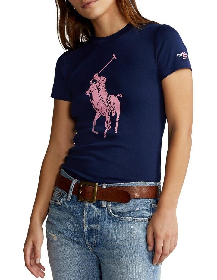 Pink Pony Slim Fit Cotton Tee image 1