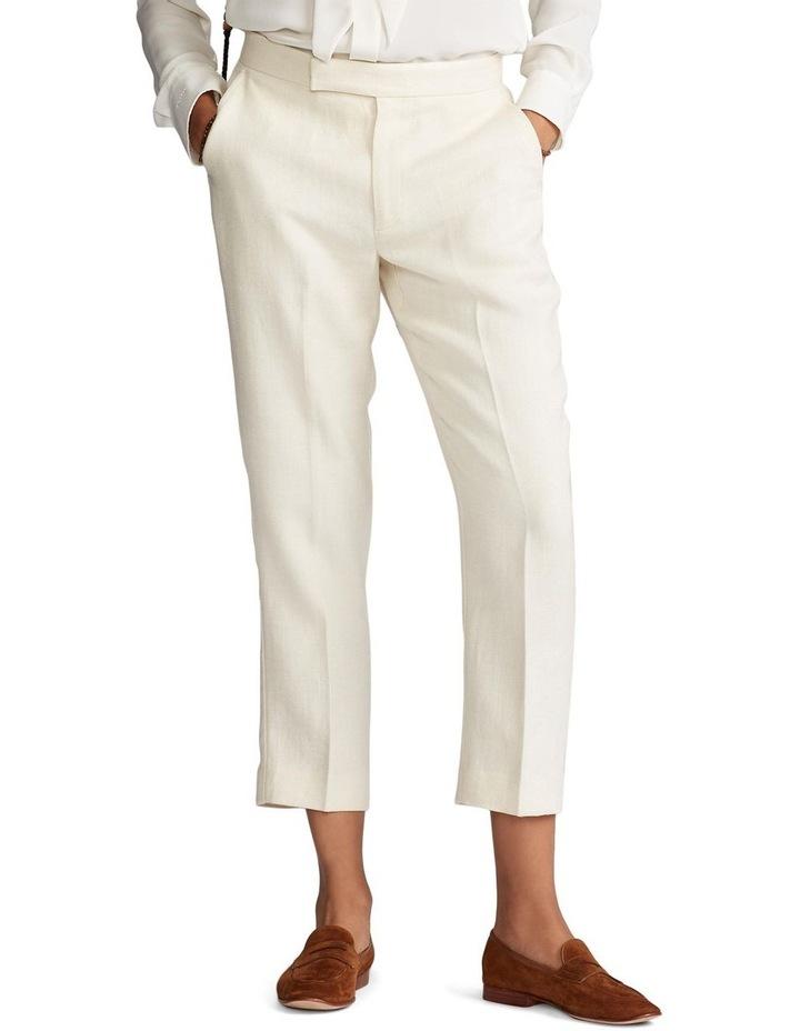 Linen-Blend Straight Pant image 1