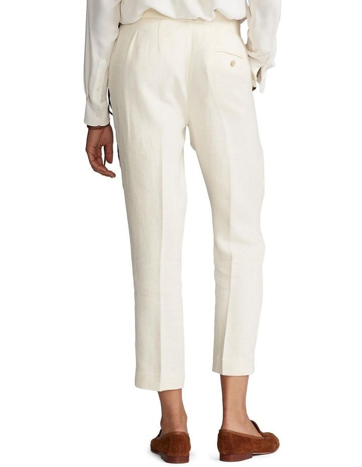 Linen-Blend Straight Pant image 2