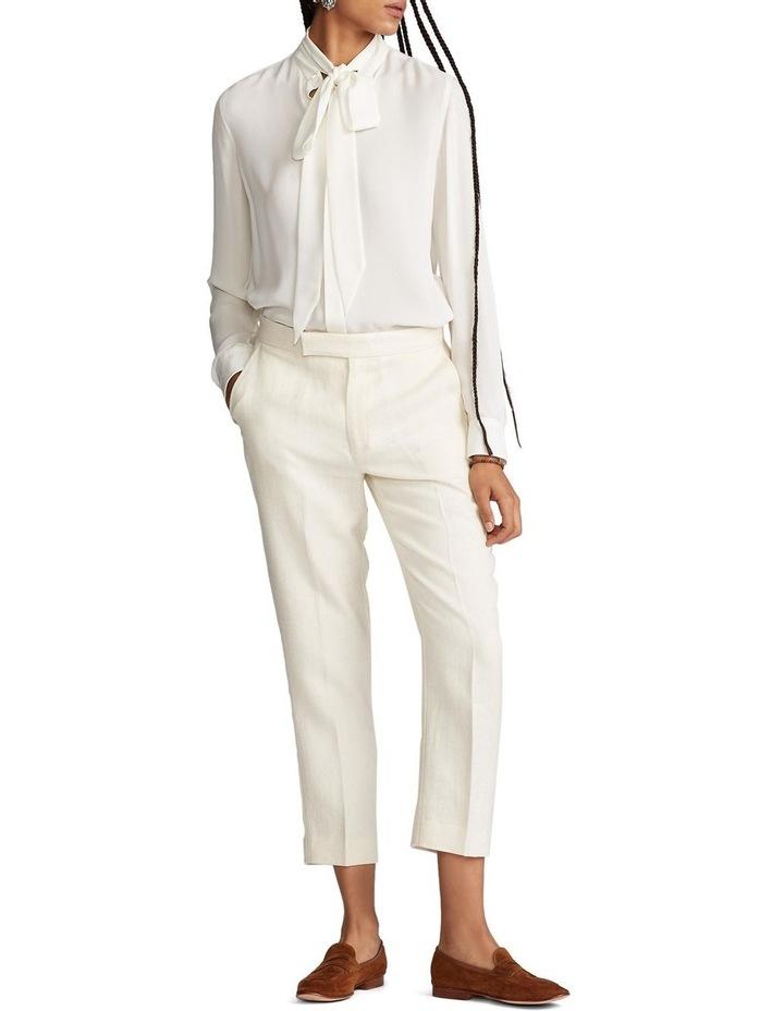 Linen-Blend Straight Pant image 3