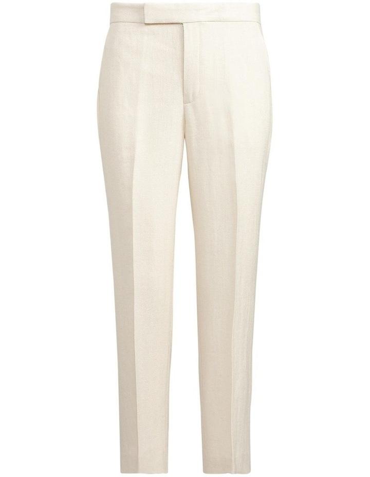 Linen-Blend Straight Pant image 4