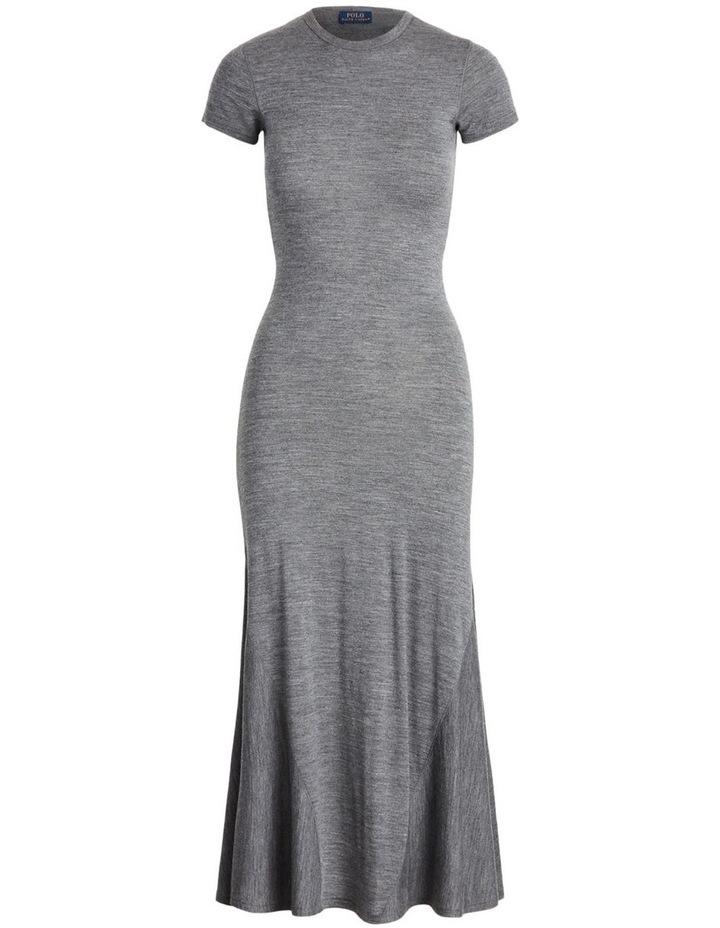 Wool-Blend Crewneck Dress image 4