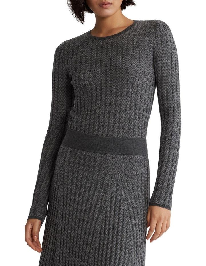 Ribbed Wool Herringbone Sweater image 1