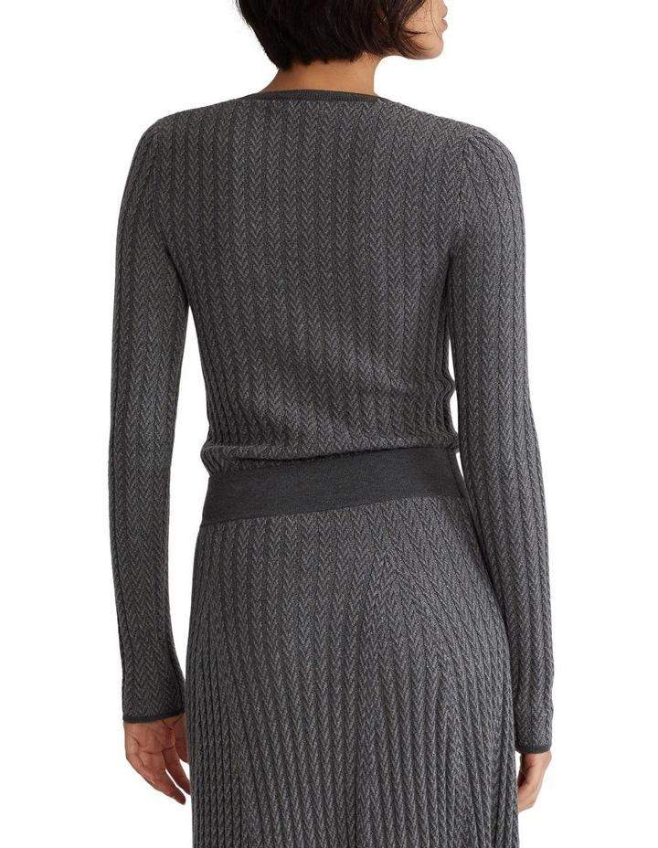 Ribbed Wool Herringbone Sweater image 2