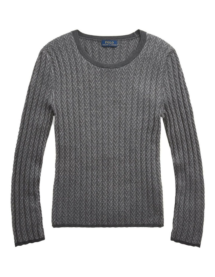 Ribbed Wool Herringbone Sweater image 4