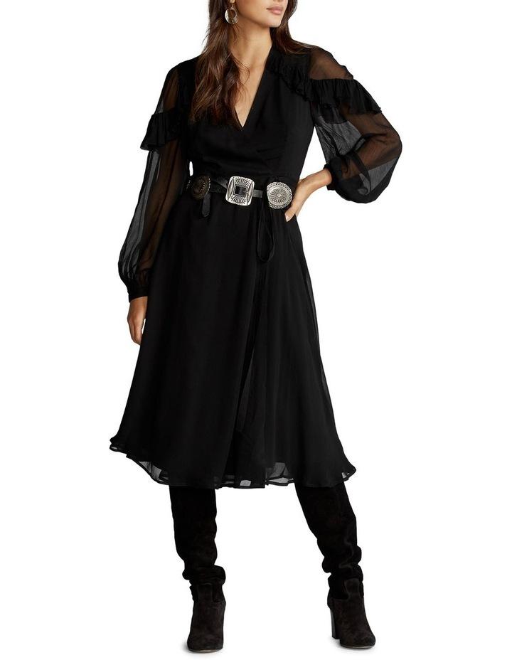 Ruffle-Trim Wrap Dress image 2