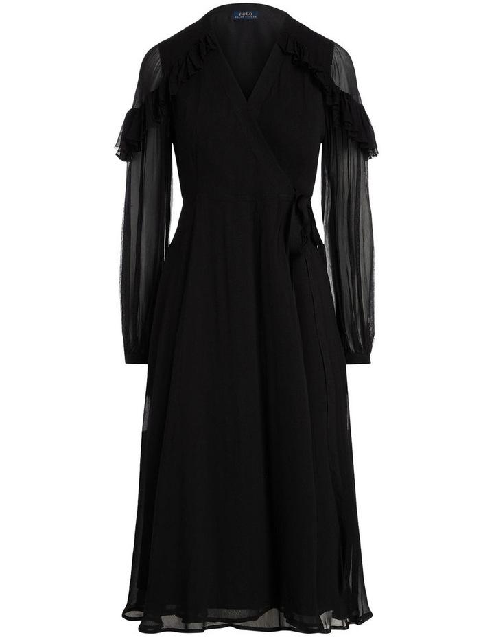 Ruffle-Trim Wrap Dress image 4