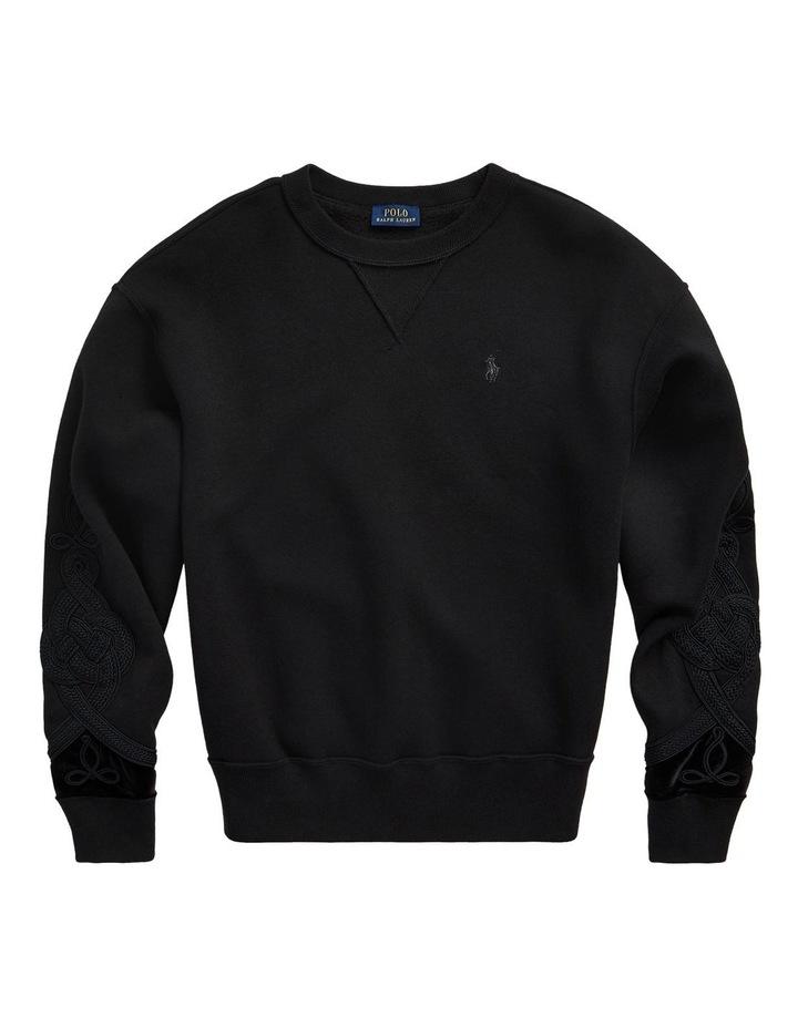 Soutache-Trim Fleece Sweatshirt image 4