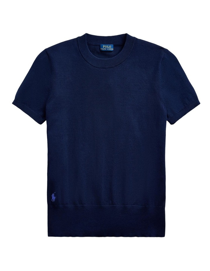 Cotton Short-Sleeve Sweater image 4