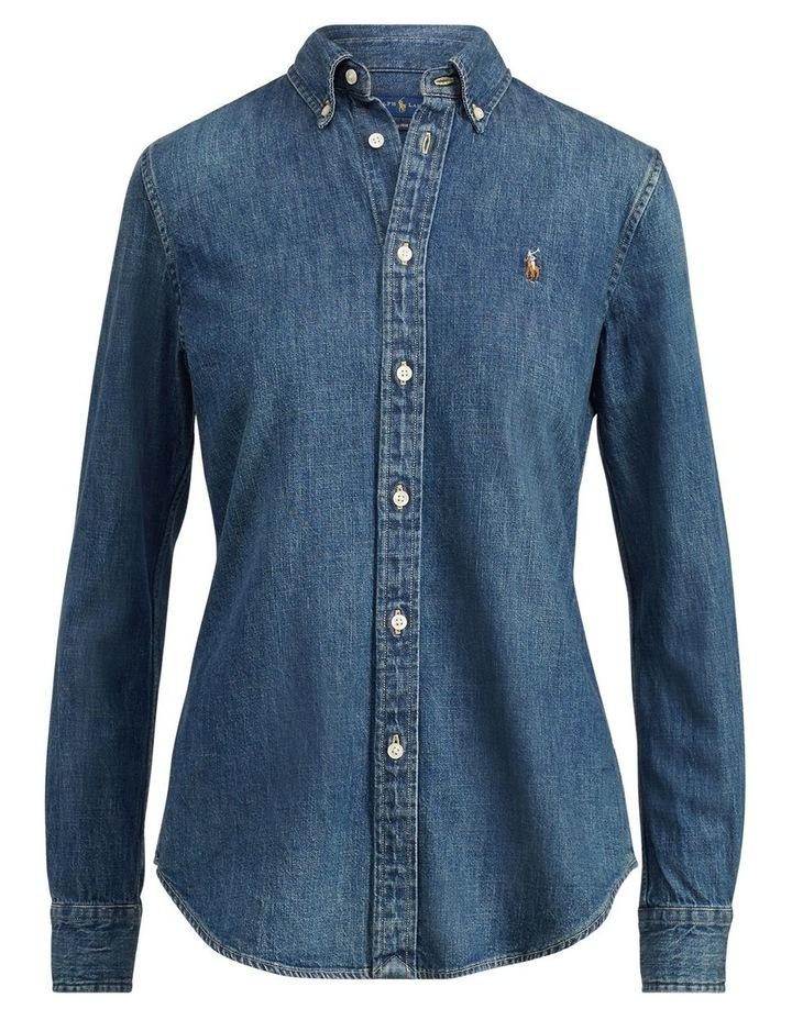 Custom Fit Denim Shirt image 4