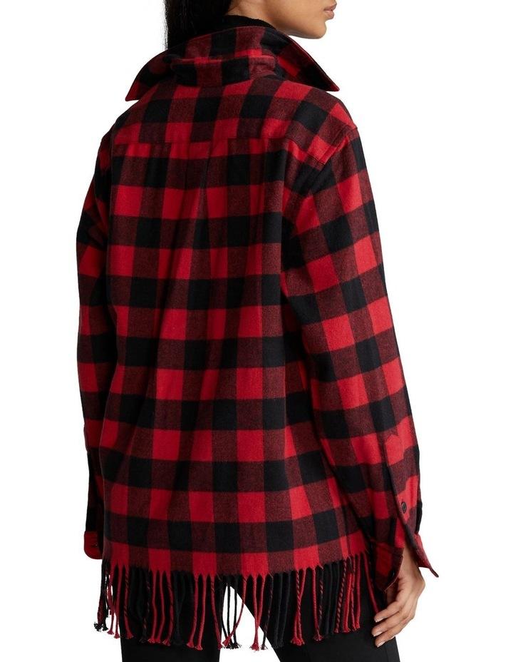 Fringe-Trim Plaid Shirt image 2