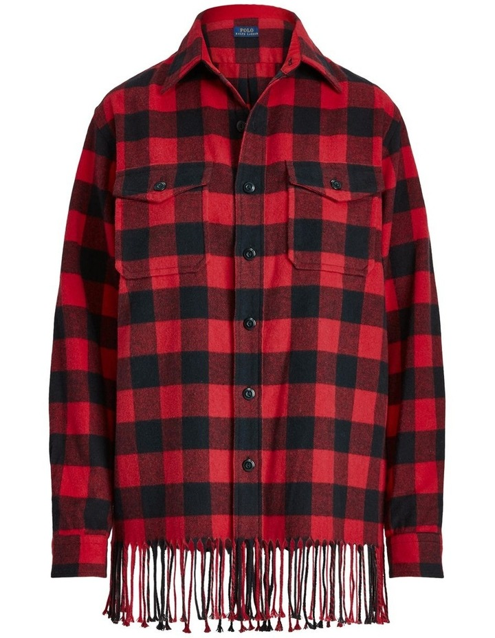 Fringe-Trim Plaid Shirt image 4