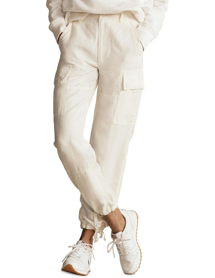 Silk-Blend Cargo Pant image 1