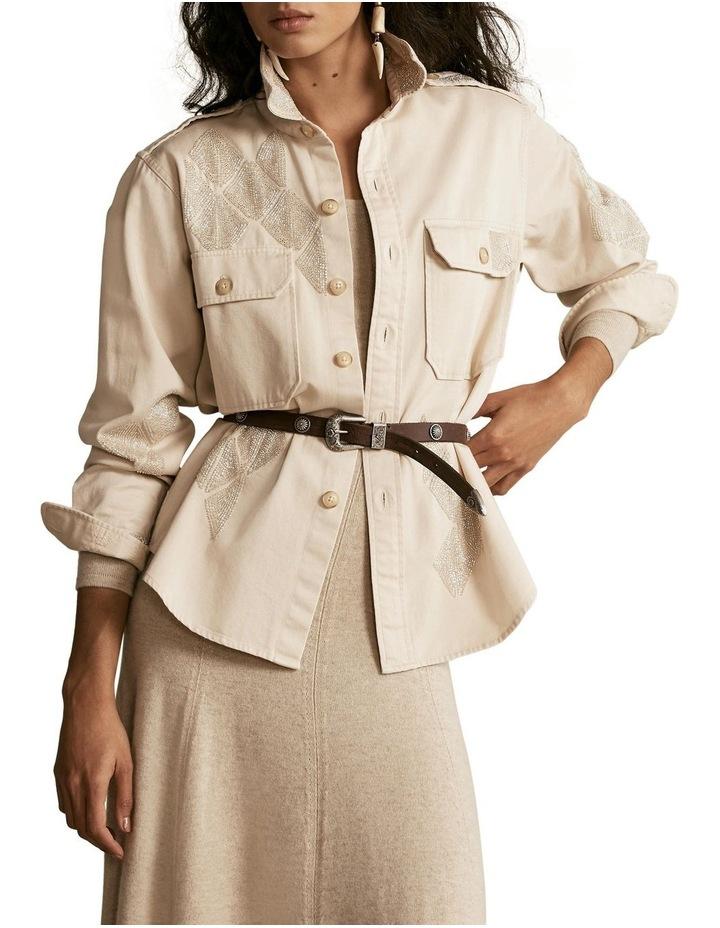 Beaded Cotton Twill Shirt image 1