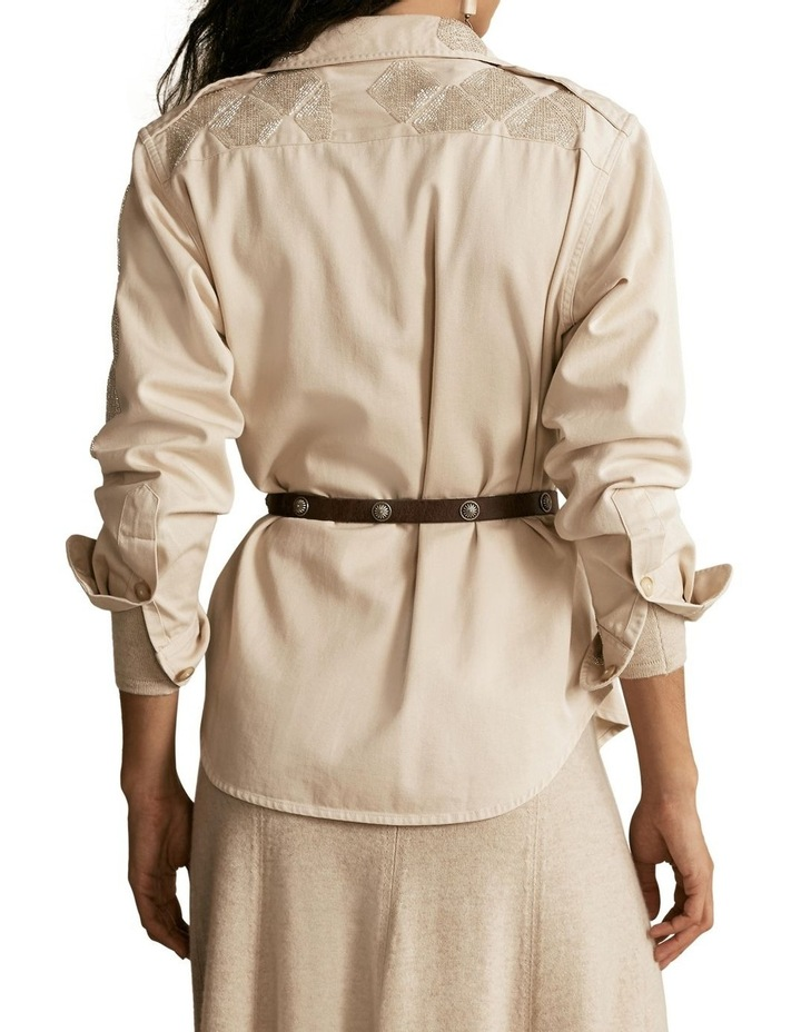 Beaded Cotton Twill Shirt image 2