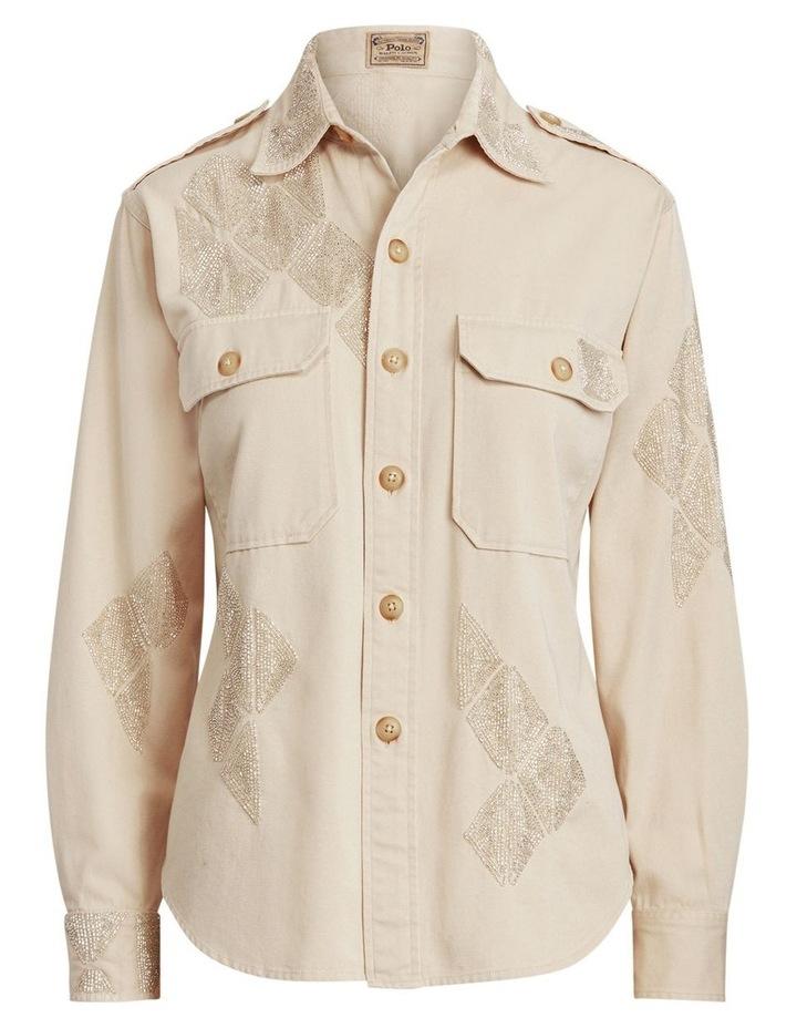 Beaded Cotton Twill Shirt image 4