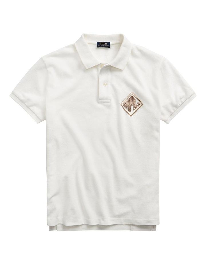 Beaded-Logo Polo Shirt image 4