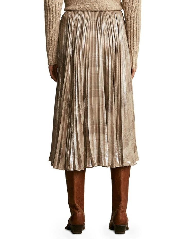 Metallic Plaid Pleated Skirt image 2