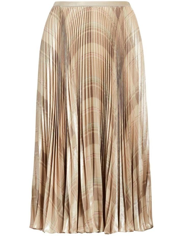 Metallic Plaid Pleated Skirt image 3