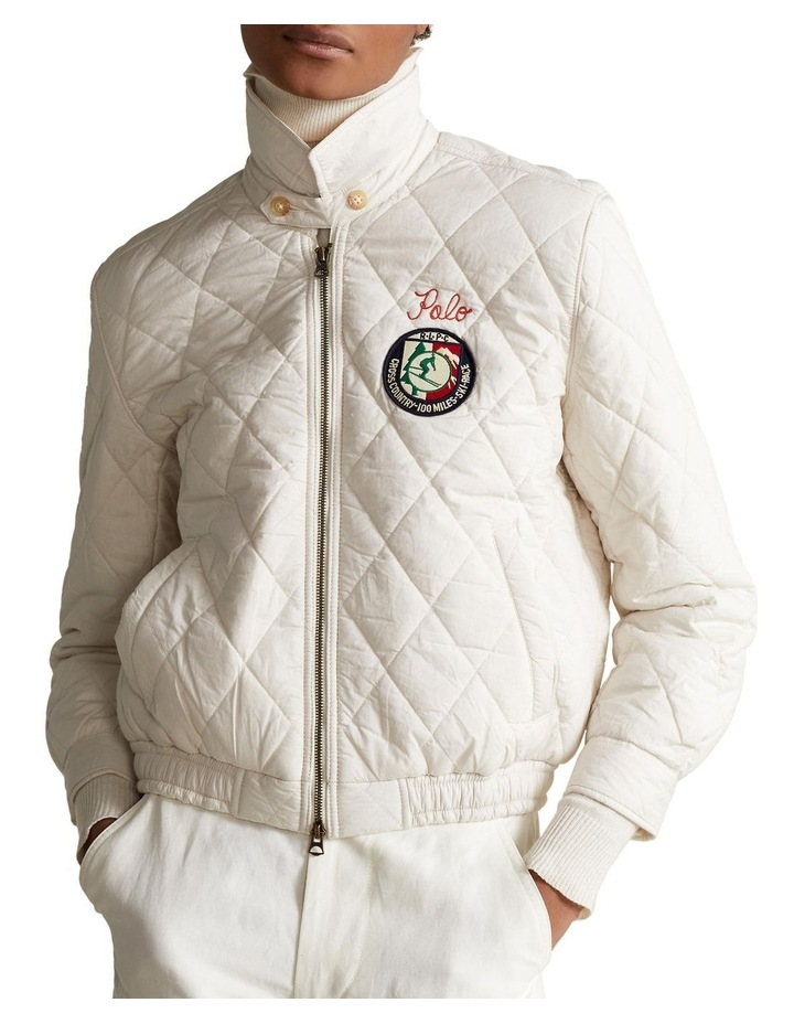 Quilted Cotton Bomber Jacket image 1