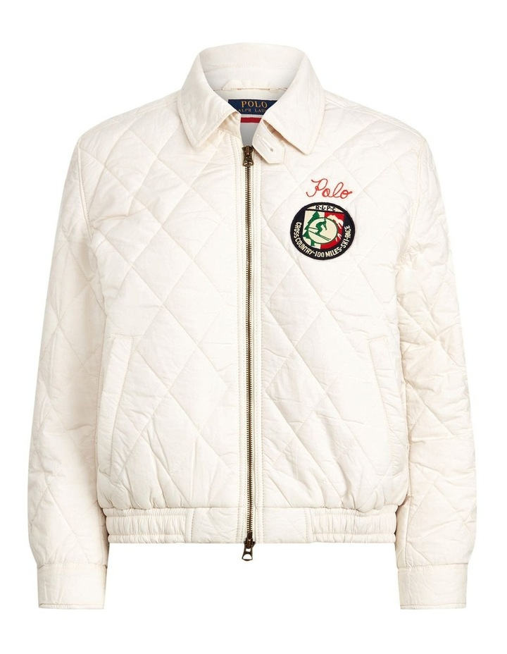 Quilted Cotton Bomber Jacket image 3