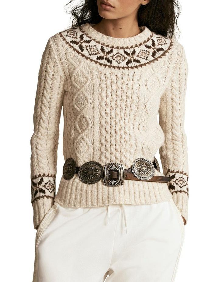 Fair Isle Aran-Knit Sweater image 1